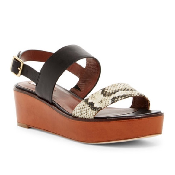 e7163a6764c Cole Haan Shoes - Cole Haan Cambon Snake Wedge Sandal